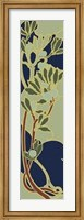 Framed Nouveau Floral Panel I