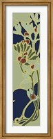Framed Nouveau Floral Panel II