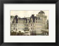 Framed Petite French Chateaux V