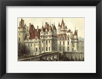 Framed Petite French Chateaux VII