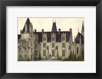 Framed Petite French Chateaux VIII