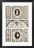 Framed Sepia Pergolesi Panel I
