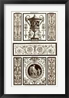 Framed Sepia Pergolesi Panel II