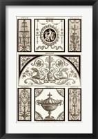 Framed Sepia Pergolesi Panel III