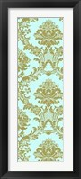 Framed Vivid Damask In Gold II