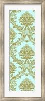 Framed Vivid Damask In Gold II