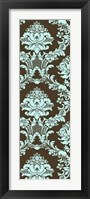 Framed Vivid Damask In Blue I