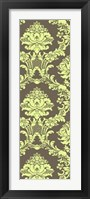 Framed Vivid Damask In Green I