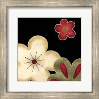 Framed Pop Blossoms In Red I