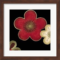 Framed Pop Blossoms In Red II