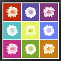 Framed Vivid Bouquet