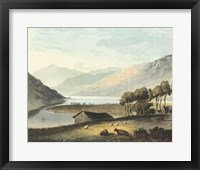 Framed Picturesque English Lake I