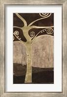 Framed Sylvan Spirals I