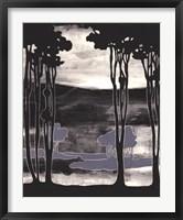 Framed Nouveau Landscape I