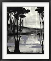 Framed Nouveau Landscape II