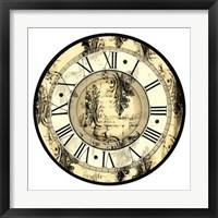Framed Aged Elegance Clock