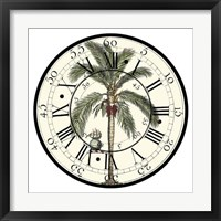 Framed Antique Palm Clock