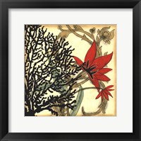 Framed Coral Tapestry III