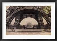 Framed La Base de la Tour Eiffel