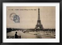 Framed Le Quai d'Orsay et la Tour Eiffel