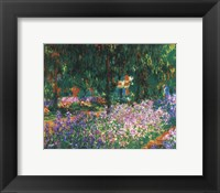 Framed Artist's Garden at Giverny, c.1900 (green trees)