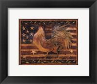 Framed Old Glory Rooster