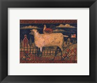 Framed Farmhouse Sheep