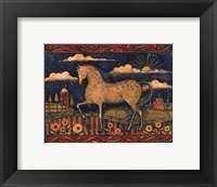 Framed Farmhouse Horse
