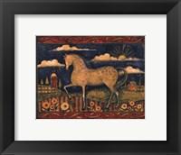 Framed Farmhouse Horse