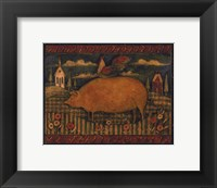Framed Farmhouse Pig