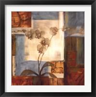 Framed Blue Orchid II
