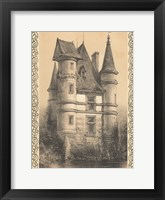 Framed Bordeaux Chateau I
