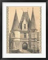 Framed Bordeaux Chateau II