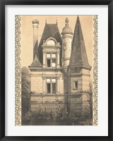 Framed Bordeaux Chateau IV