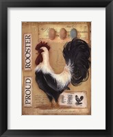 Framed Proud Rooster