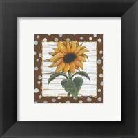 Framed Polka Dot Sunflower
