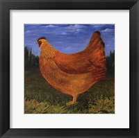 Framed Country Chicken