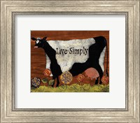 Framed Live Simply Cow