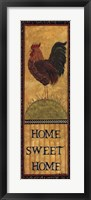 Framed Home Sweet Home - Rooster