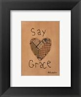 Framed Say Grace
