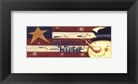 Americana Winter Framed Print