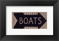 Framed To The Boats