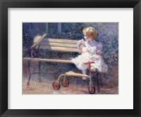 Framed Antique Doll