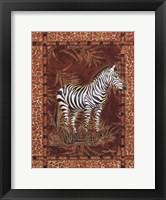 Framed Lone Zebra