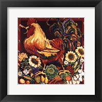 Framed Rooster Harvest