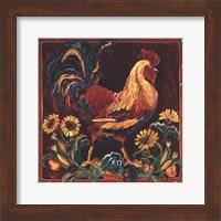 Framed Rooster Rustic