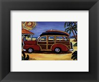 Red Woody Framed Print