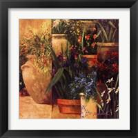 Flower Pots Left Framed Print