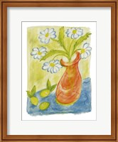Framed Daisies In Pink Vase