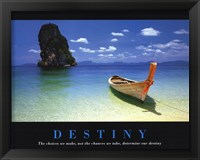 Framed Destiny - inspirational quote